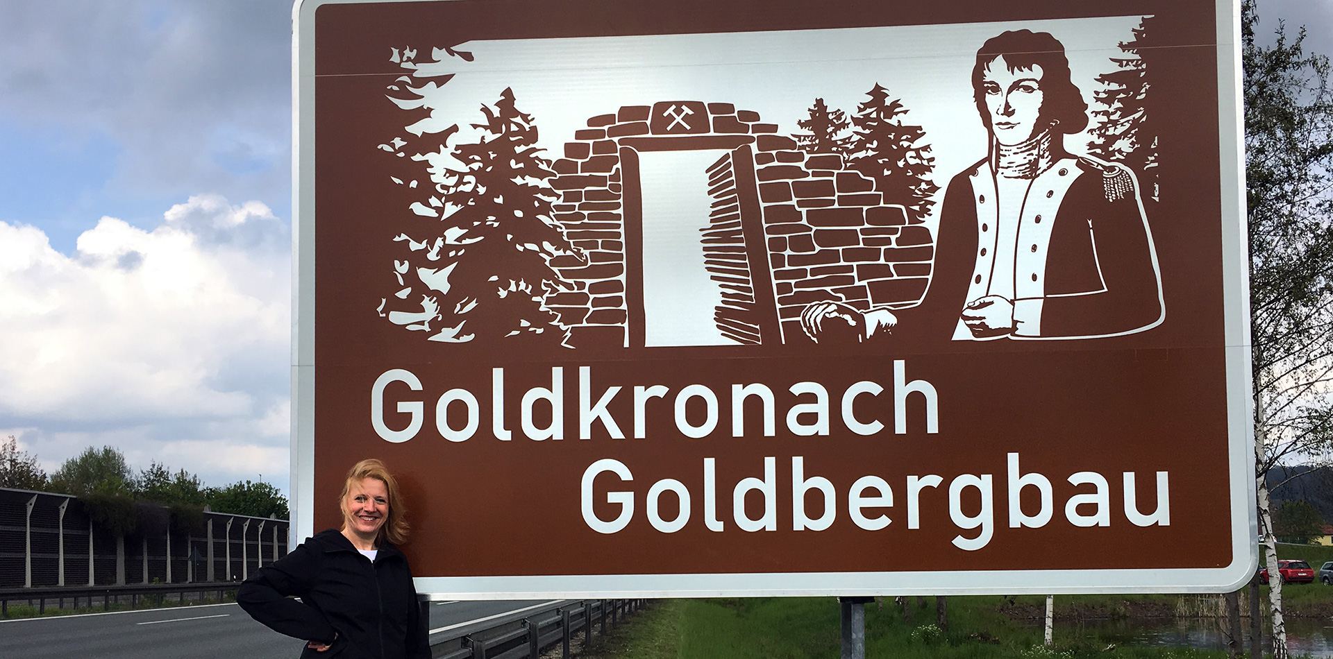 Autobahnschild Goldkronach